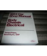 1984 FORD TEMPO MERCURY TOPAZ Service Shop Repair Manual BODY CHASSIS EL... - $9.85