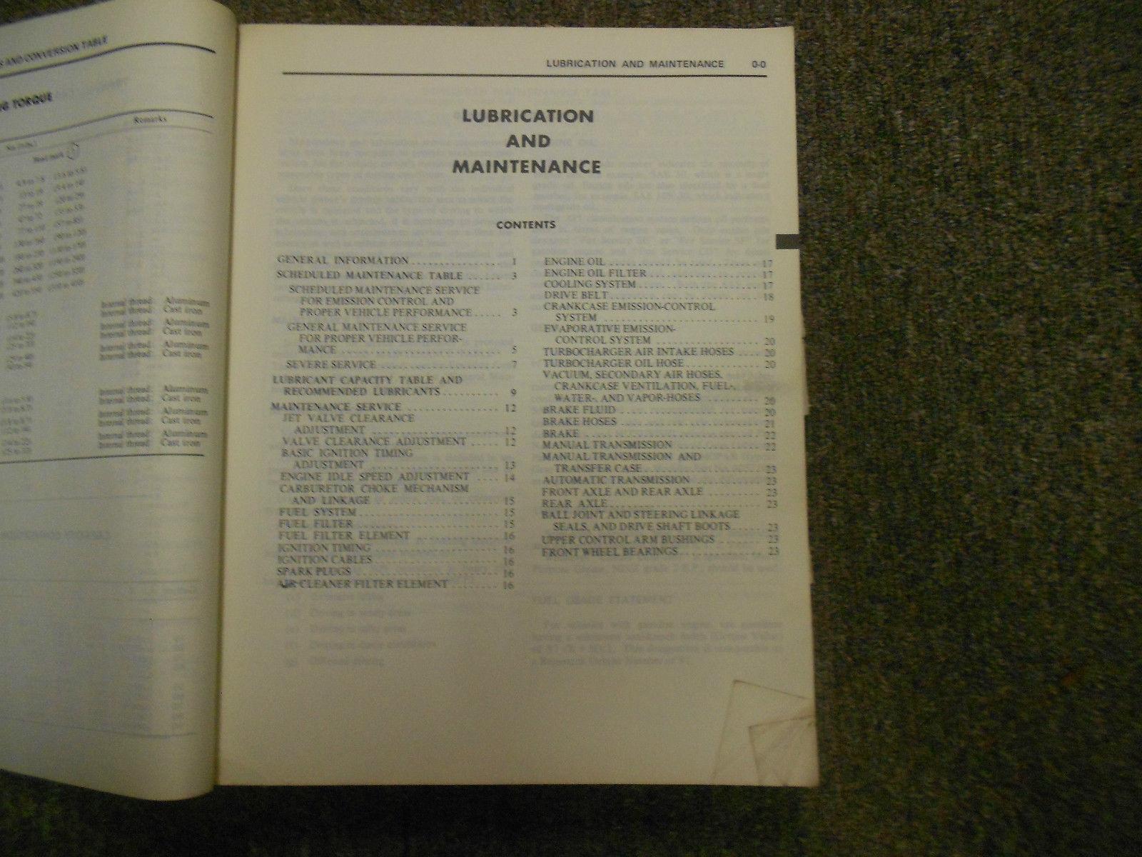 1984 MITSUBISHI Truck Service Repair Shop Manual WORN FACTORY OEM BOOK 84 DEAL