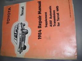 1984 Toyota TERCEL A55F Auto Trans Service Repair Shop Manual Supplement OEM - $19.75