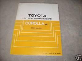 1984 Toyota Corolla FF Electrical Service Shop Manual - $24.70