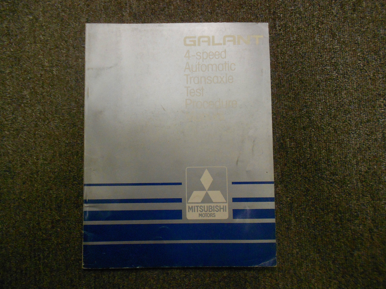1987 MITSUBISHI Galant 4 Speed Automatic Transaxle Test Procedure Service Manual - $15.78