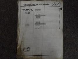 1988 Subaru 1800 Engine Transmission Service Repair Shop Manual OEM Book... - $17.77