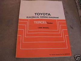 1988 Toyota Tercel Sedan Electrical Wiring Diagram Manual EWD EVTM OEM Factory - $9.89