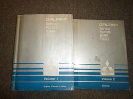 1989 1990 Mitsubishi Galant Service Repair Shop Manual 2 VOL SET WORN x ... - $98.98