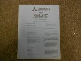 1989 MITSUBISHI Galant Air Conditioner Instalation Service Shop Manual OEM 89 - $13.45