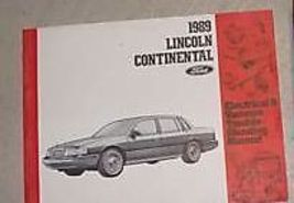 1989 Lincoln Continental ELECTRICAL & VACUUM TROUBLESHOOTING WIRING Shop... - $14.29