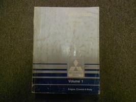 1990 MITSUBISHI Mirage Service Repair Shop Manual Volume 1 Engine Chassis Body - $14.27