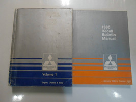 1990 MITSUBISHI Truck Service Repair Shop Manual 2 Volume SET WATER DAMAGED - $46.69