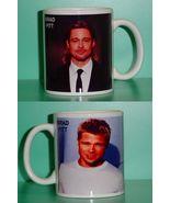 Brad Pitt  2 Photo Designer Collectible Mug - $14.95