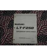 1990 Suzuki LTF250 Service Manual Supplement LT-F250 L DAMAGED FACTORY OEM 90 - $12.86