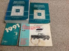 1991 Ford F-150 250 F250 350 Bronco Truck Service Shop Repair Manual Set... - $415.75