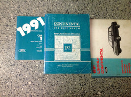 1991 Lincoln Continental Service Shop Manual Set W EVTM & SPECIFICATIONS... - $34.74