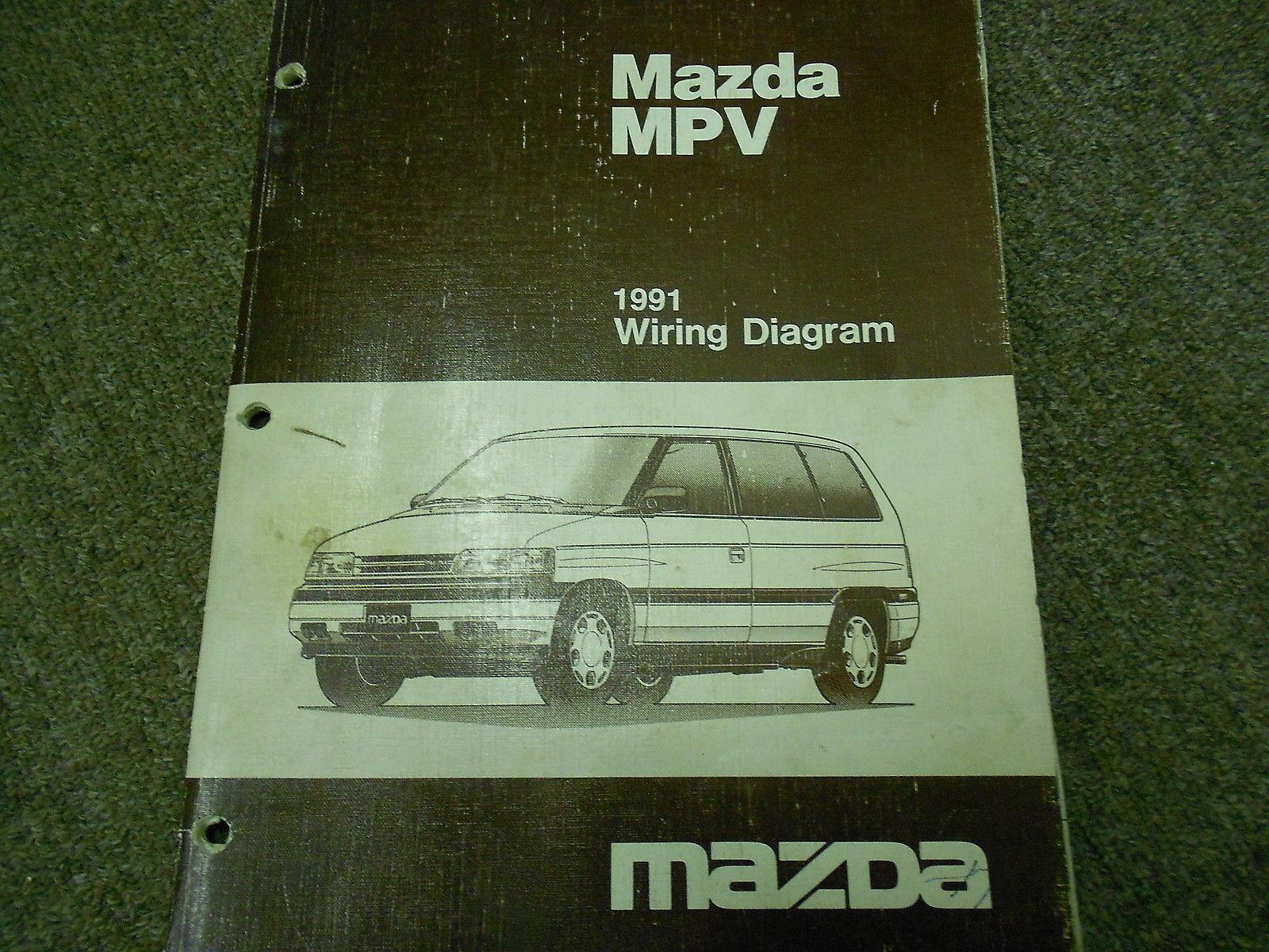 1991 Mazda MPV VAN Electrical Wiring Diagram Service Repair Manual OEM 91