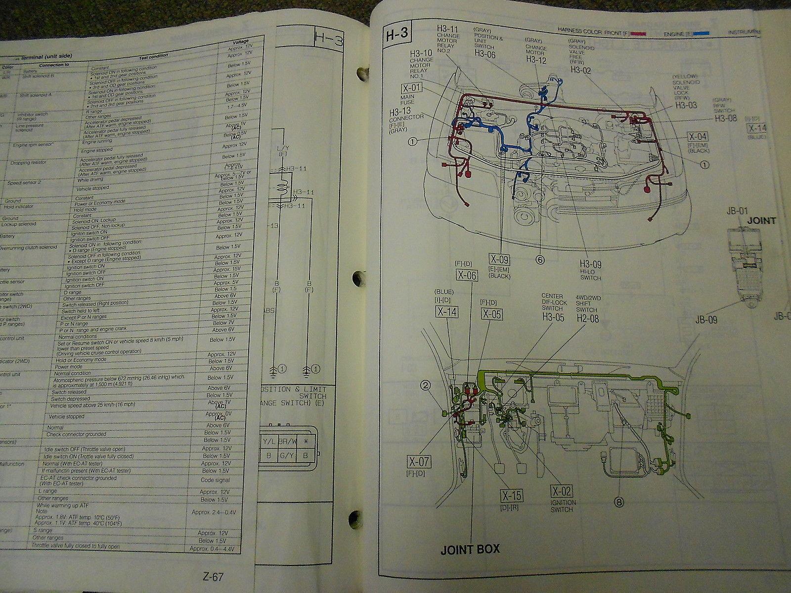 ... 1991 Mazda MPV VAN Electrical Wiring Diagram Service Repair Manual OEM  91 ...