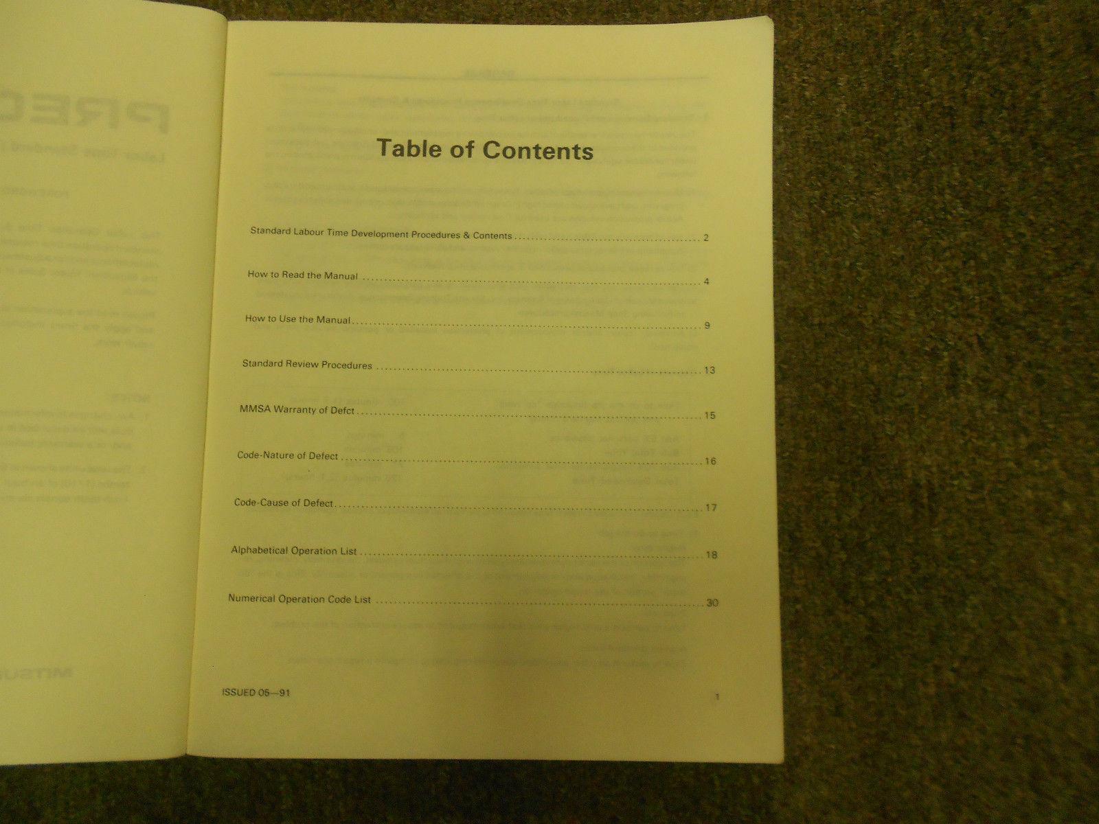 1991 MITSUBISHI Precis Service Repair Shop Manual FACTORY OEM BOOK 91 DEALERSHIP