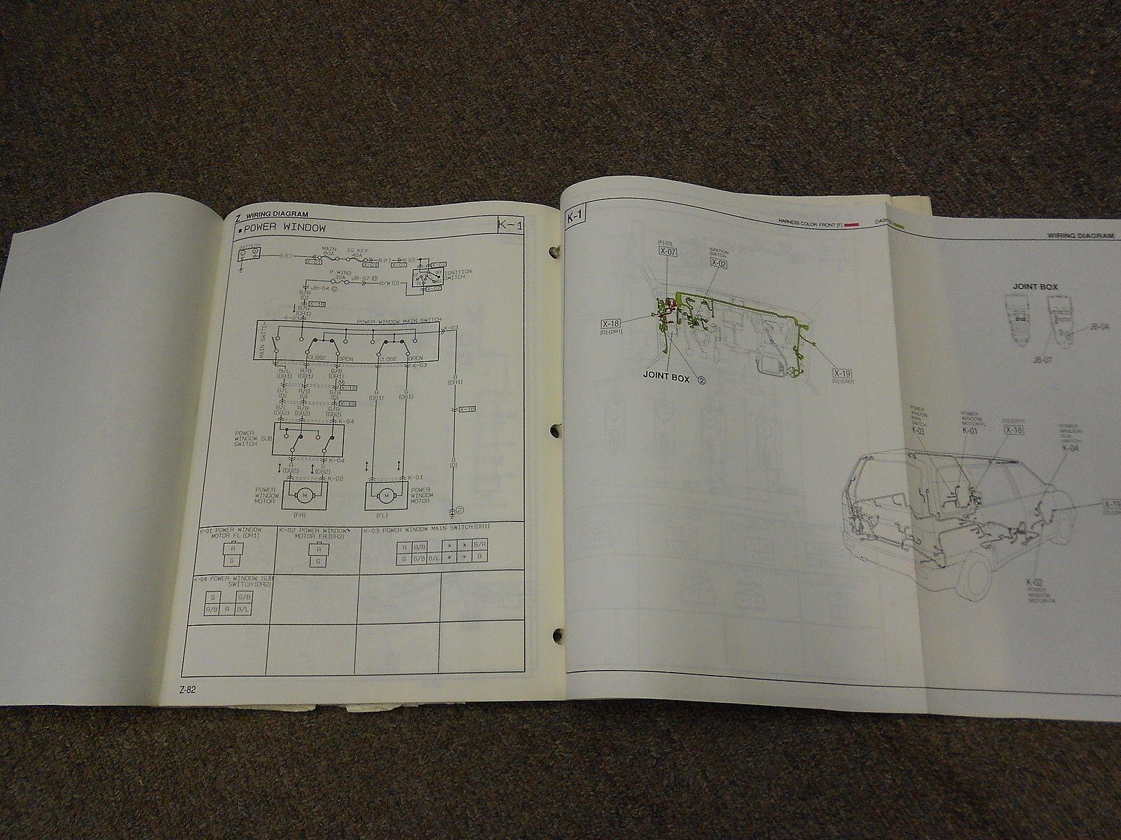 1991 Mazda Mpv Van Electrical Wiring Diagram And 50 Similar Items 1995 Service Repair Manual Oem 91