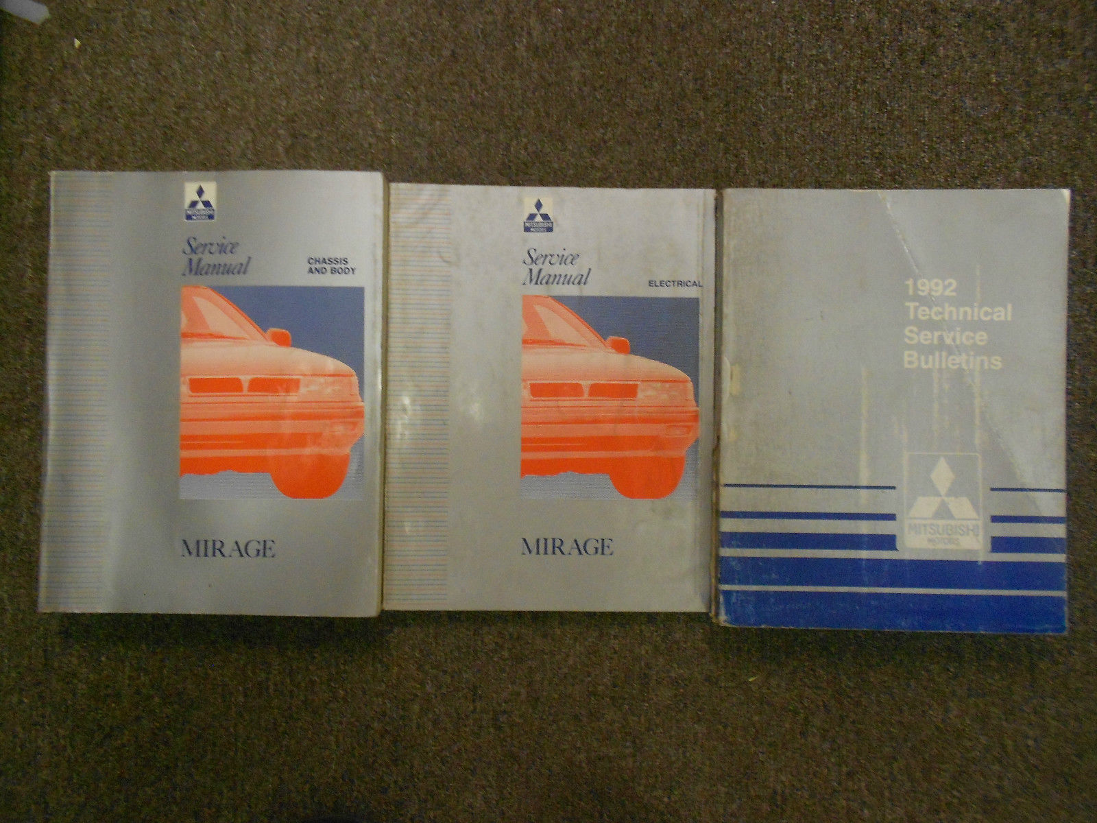 1992 MITSUBISHI Mirage Technical Bulletins Service Repair Manual SET  FACTORY OEM