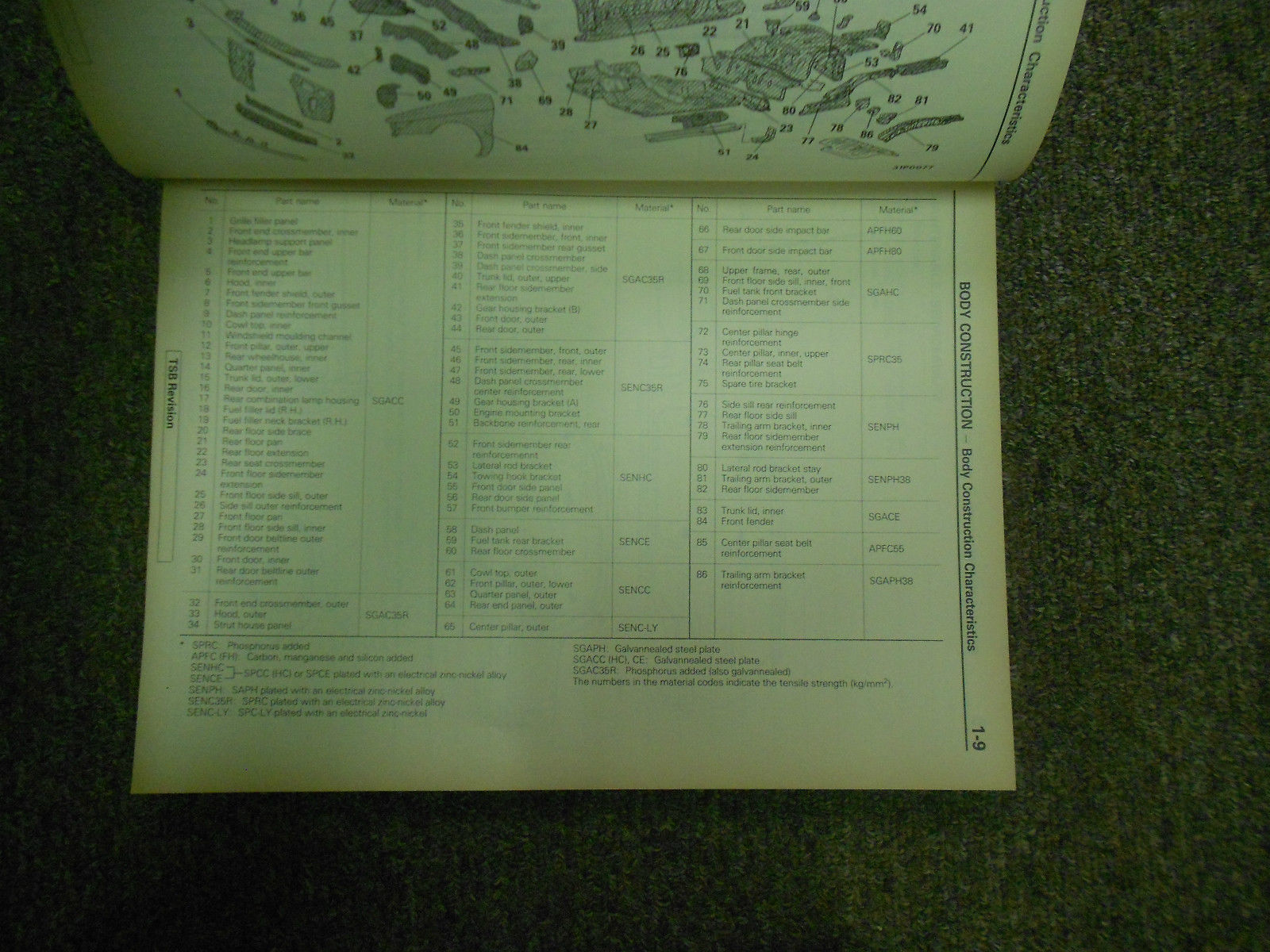 1992 MITSUBISHI Mirage Body Repair Service Shop Manual FACTORY OEM BOOK 92 DEAL
