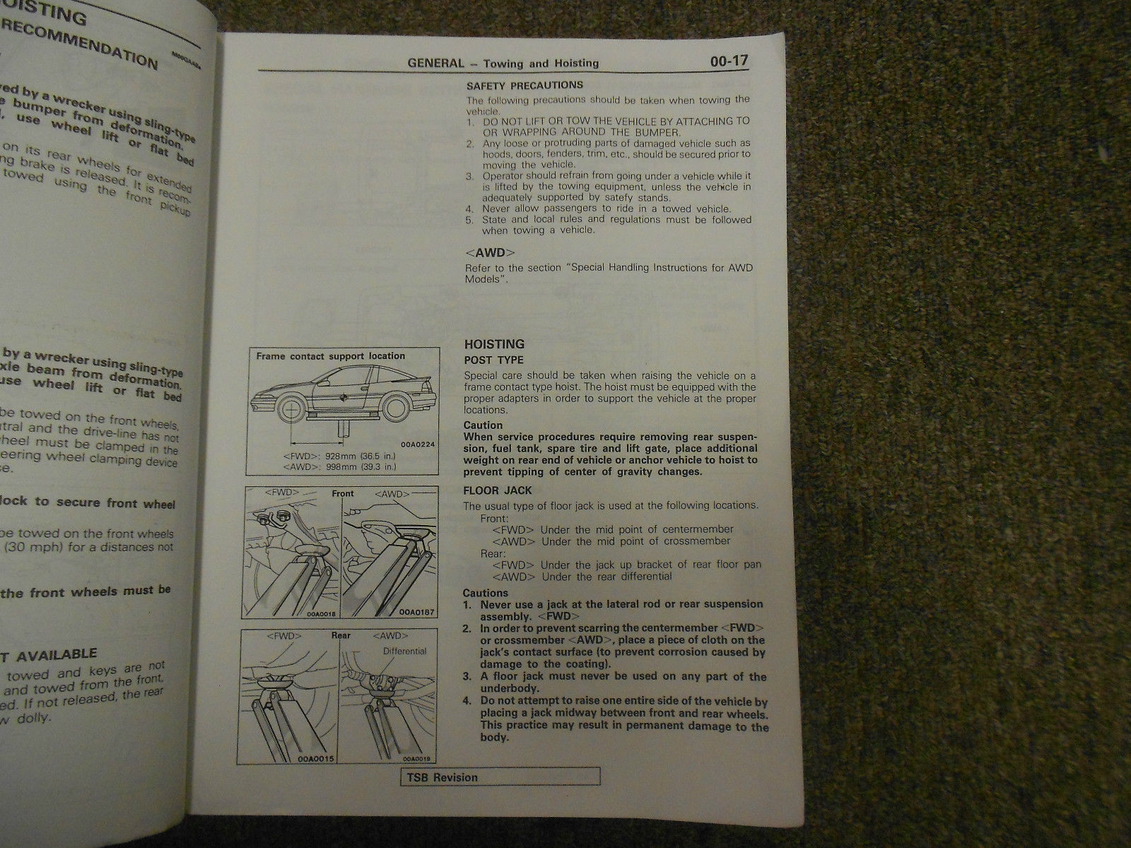 ... 1992 MITSUBISHI Eclipse Service Repair Shop Manual Volume 1 Chassis  Body OEM ...