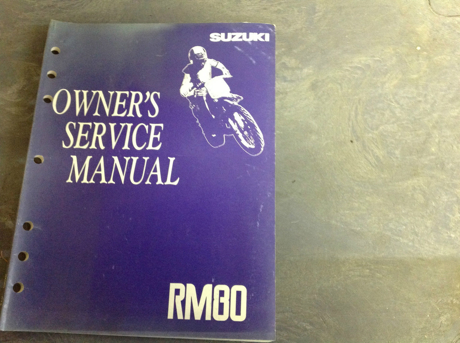 GENUINE SUZUKI OWNERS SERVICE MANUAL RM80 RM 80 1997