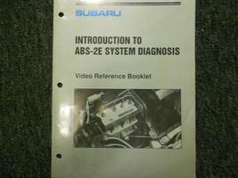 1992 Subaru ABS 2E Introduction Service Repair Shop Manual FACTORY OEM B... - $19.75