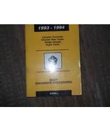 1993 Eagle Vision Body Diagnostic Service Shop Manual - $6.03