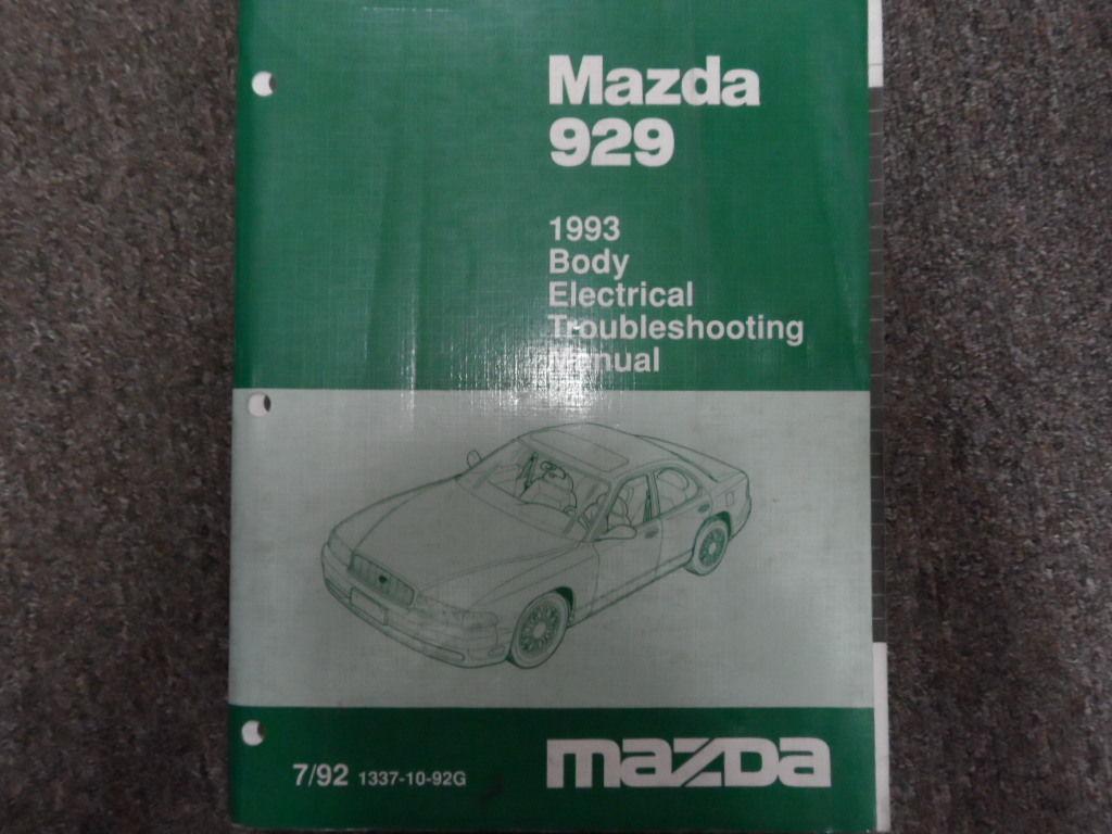 1993 MAZDA 929 Body Electrical Troubleshooting Service Repair Shop Manual  OEM