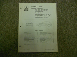 1993 MITSUBISHI Mirage AC Installation Instructions Service Shop Manual ... - $12.64