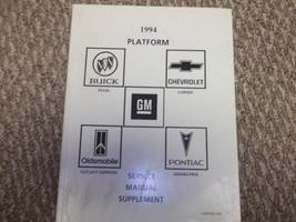 1994 Buick Regal Chevy Lumina Pontiac Grand Prix Cutlass Manual Supplement - $34.64