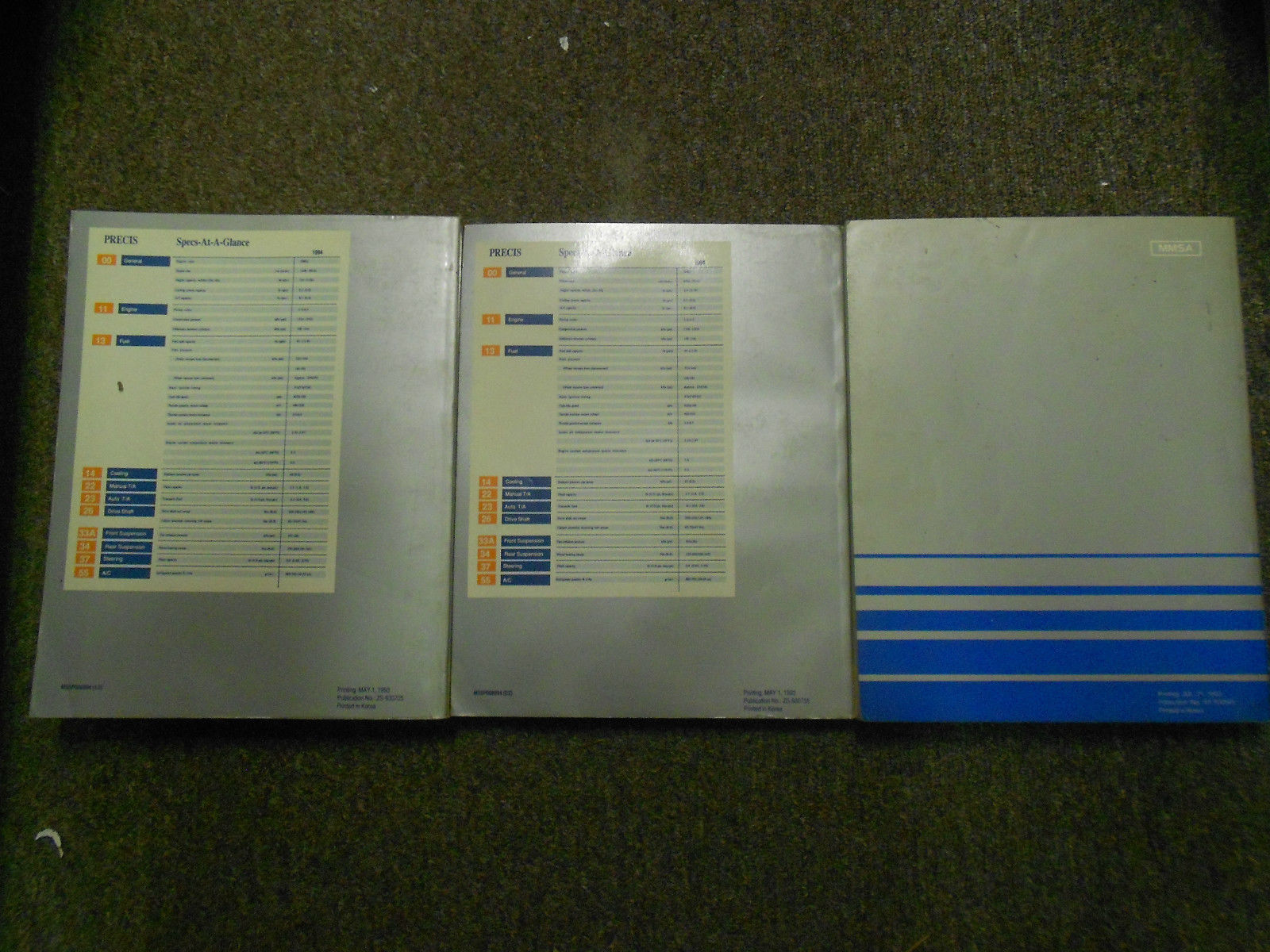1994 MITSUBISHI Precis Service Repair Shop Manual FACTORY 3 VOL SET OEM BOOK 94