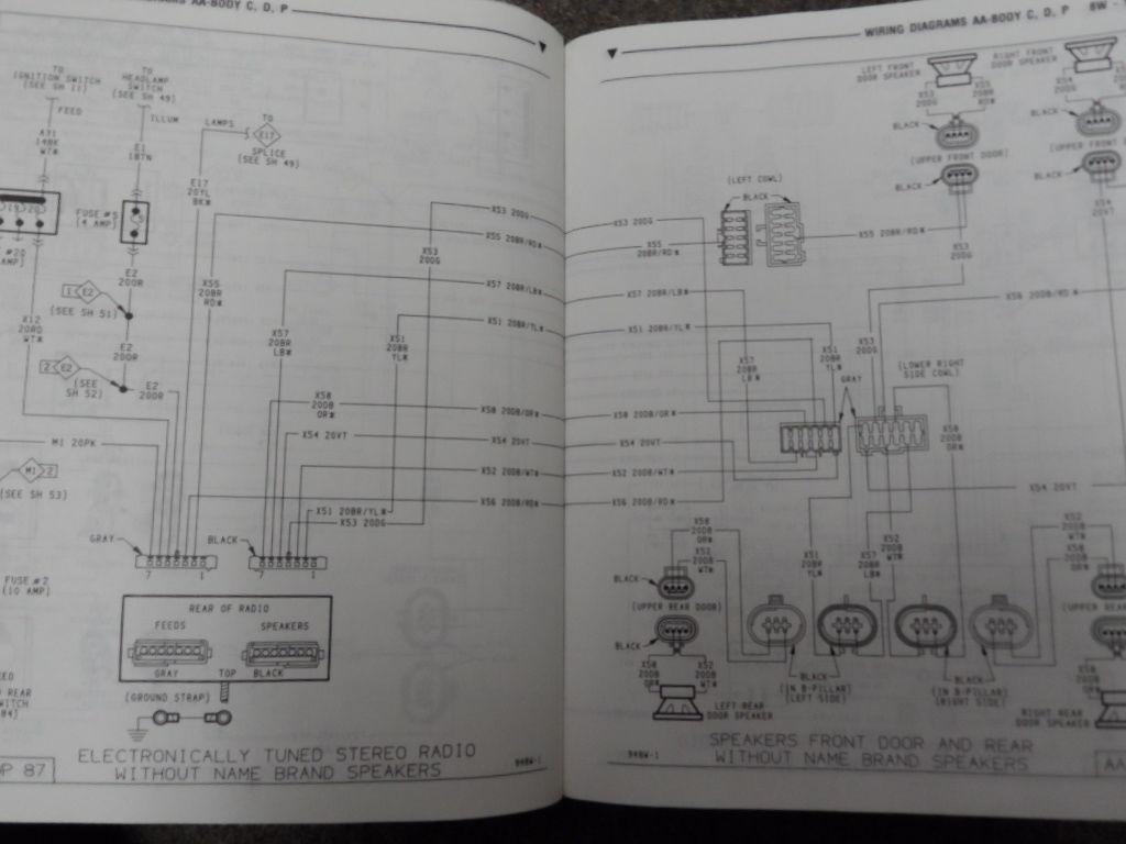 service manual pdf 1994 plymouth acclaim workshop. Black Bedroom Furniture Sets. Home Design Ideas