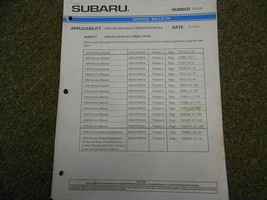 1995 1996 Subaru Service Bulletins Service Repair Shop Manual FACTORY OE... - $15.80