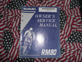 1995 Suzuki RM80 Owners Service Manual Water Damaged Factory Book 95 Dealership - $20.78