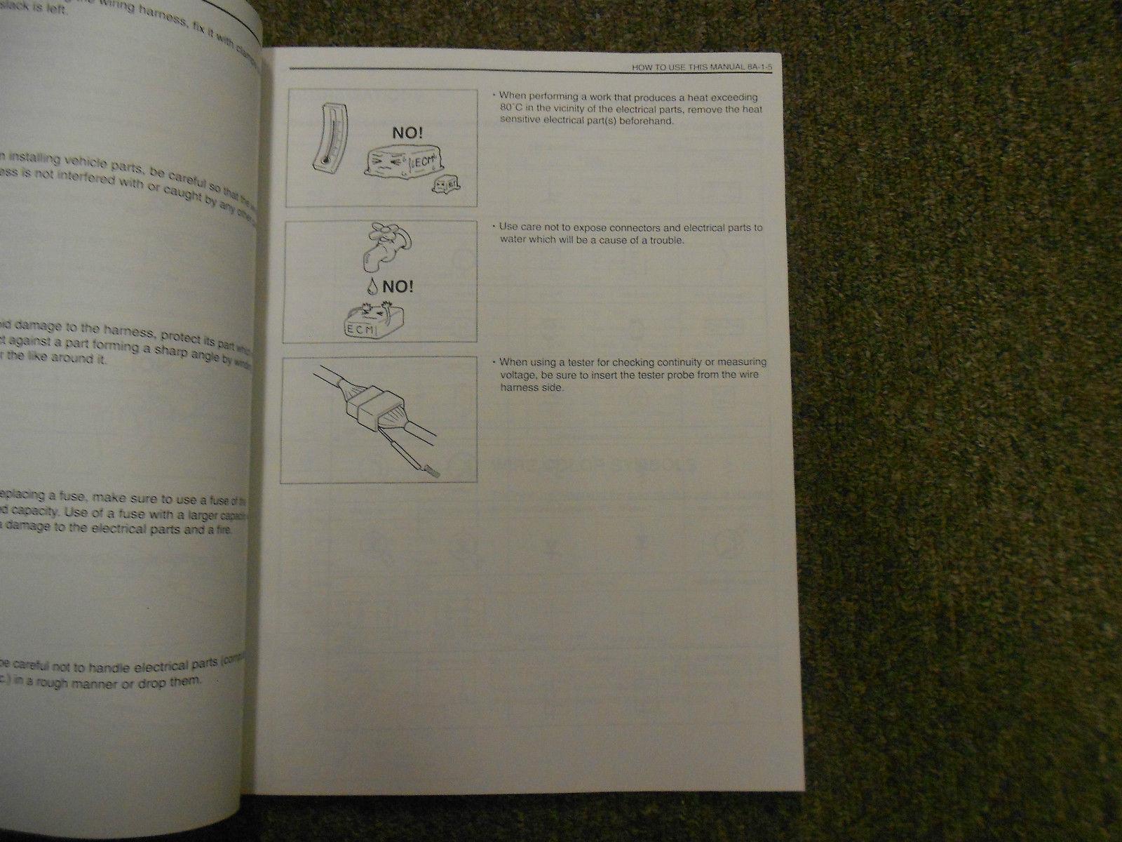 1995 Suzuki Esteem Wiring Diagram Shop Manual FACTORY OEM BOOK 95 2ND ED U.S VOL image 5