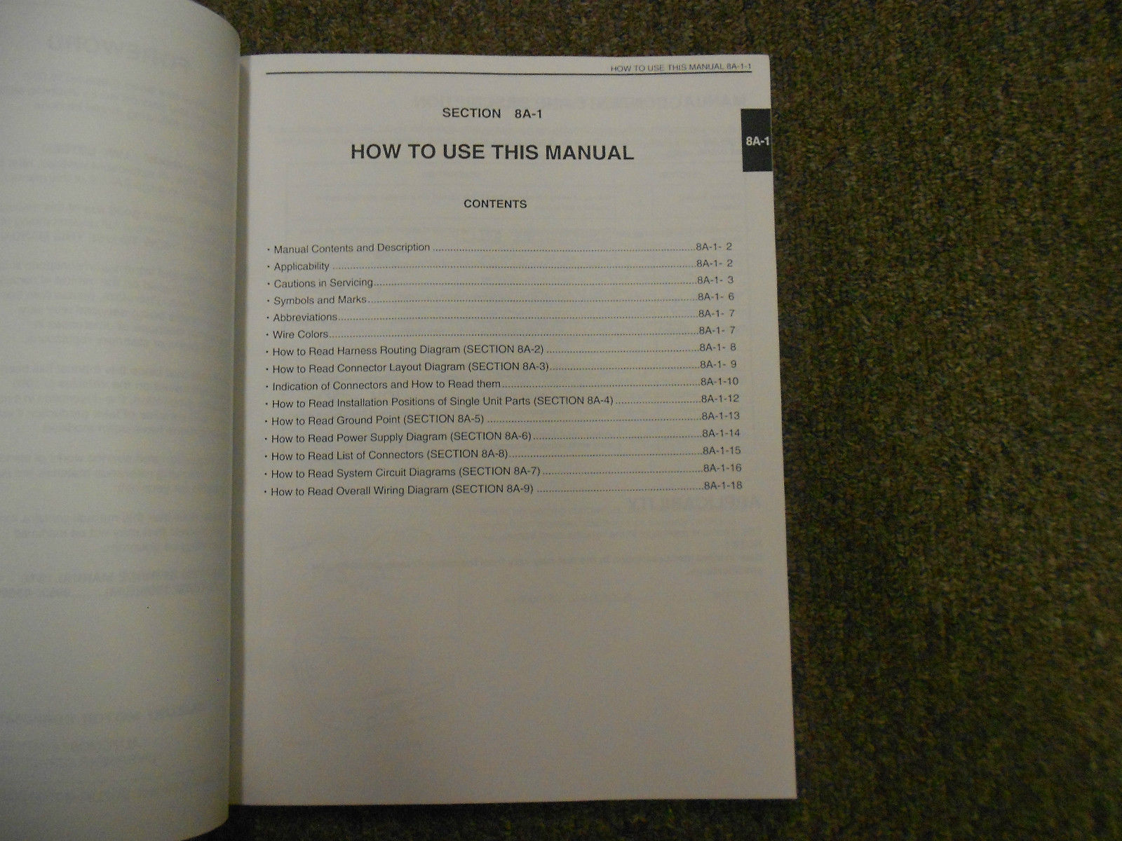 1995 Suzuki Esteem Wiring Diagram Shop Manual FACTORY OEM BOOK 95 2ND ED U.S VOL image 3