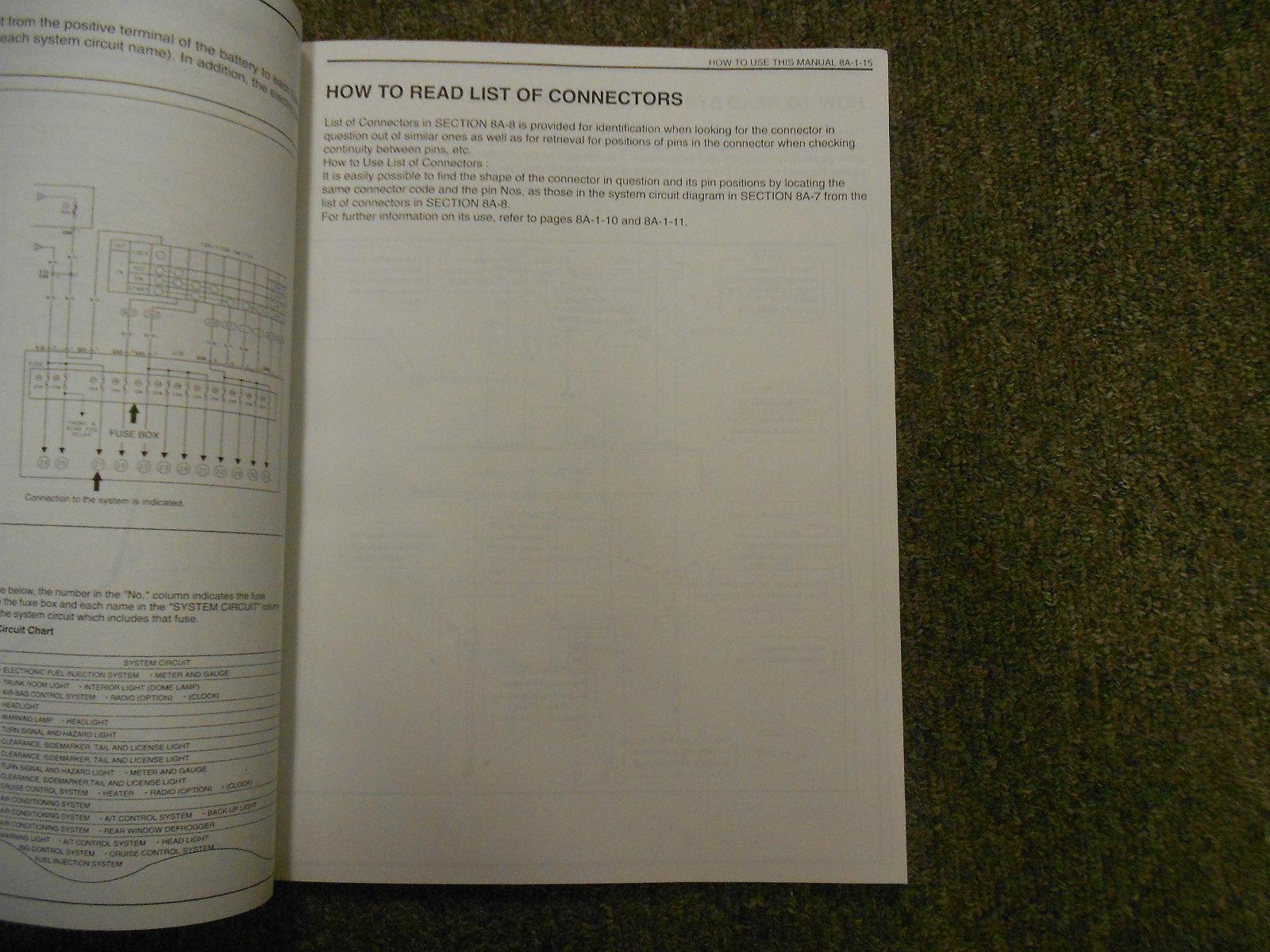 suzuki esteem fuse box diagram 1995 suzuki esteem wiring diagram shop and 50 similar items  1995 suzuki esteem wiring diagram shop