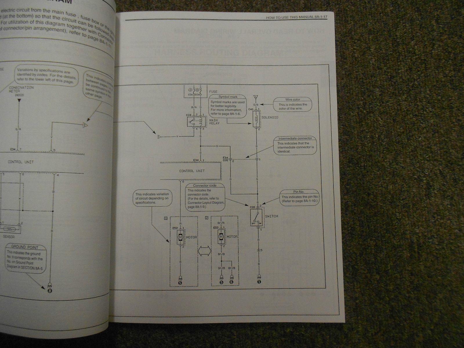 1995 Suzuki Esteem Wiring Diagram Shop Manual FACTORY OEM BOOK 95 2ND ED U.S VOL image 11