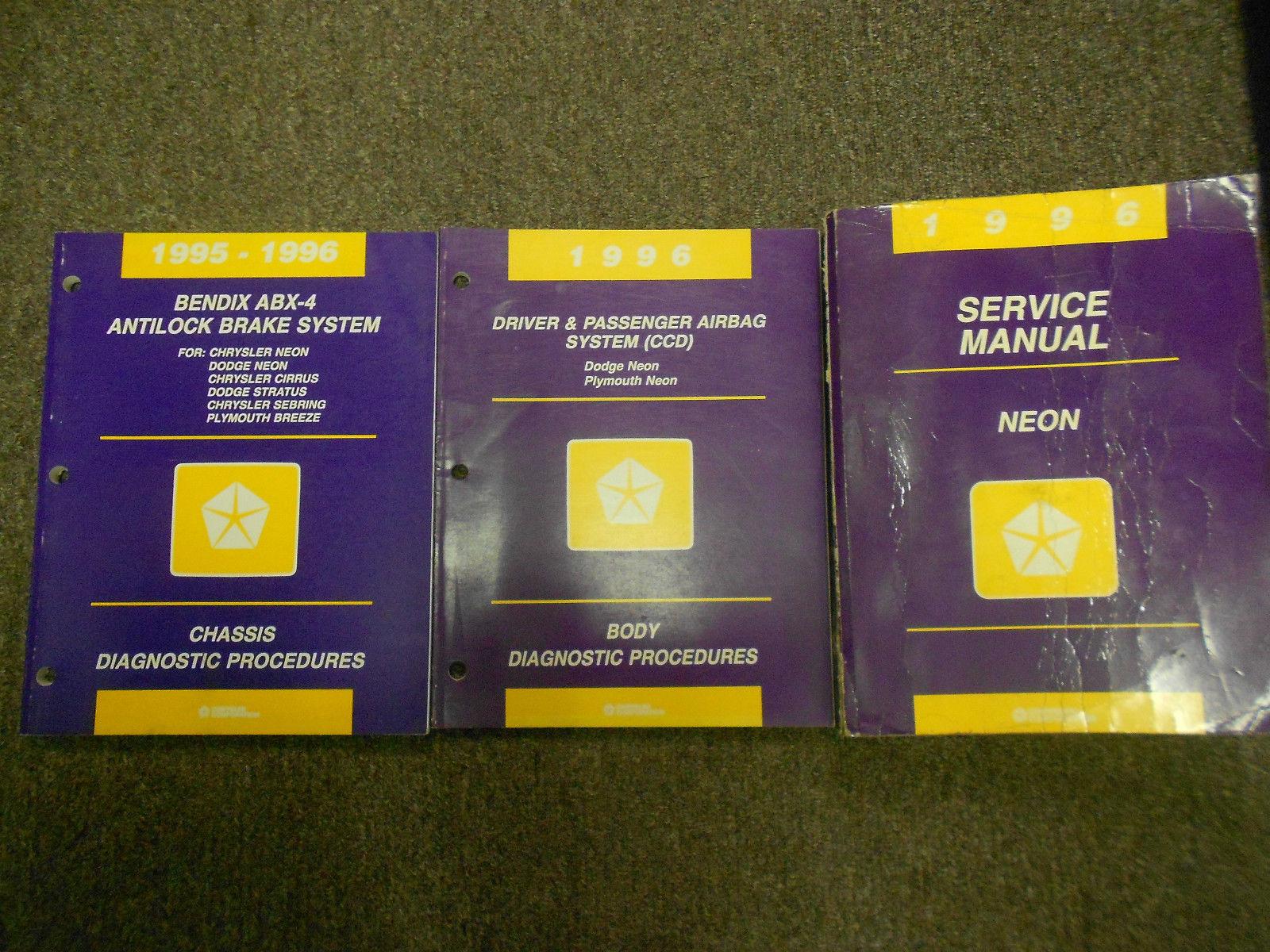 1996 DODGE PLYMOUTH NEON Service Repair Shop Manual OEM 96 DEALERSHIP BOOK  SET