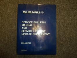 1998 Subaru Service Bulletin Helpline Update Supplement Service Shop Manual 98 - $24.70