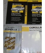 1998 Toyota Corolla Service Repair Shop Manual FACTORY SET W WIRING BOOK... - $247.48