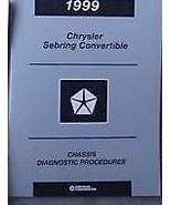 1999 CHRYSLER SEBRING CONVERTIBLE CHASSIS Repair Service Manual DIAGNOSTICS - $4.05