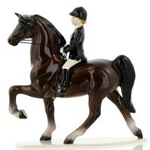 Hagen Renaker Horse Dressage with Rider Ceramic Figurine - $49.96