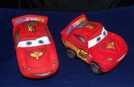 "Disney Cars World Grand Prix Lightning McQueen 6"" Cloth Just Play Race C... - $7.77"