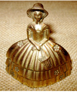 Ms London Bell – Vintage Victorian Lady in Sun Hat Figure Bell Made in E... - $49.99