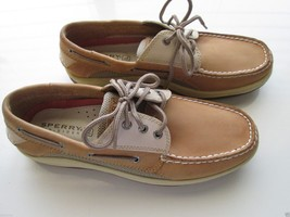 Sperry Top-Sider 799023 3 Eyelets FullGrain Leather Boat Men Sneaker Tan 9M-9.5M - $64.59