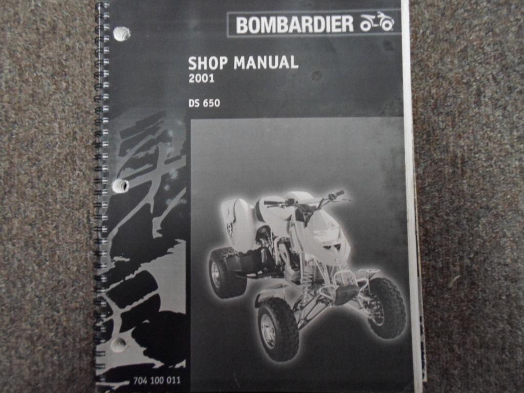 2001 Bombardier DS 650 ATV Shop Repair Service Manual FACTORY DEALER OEM  BOOK x