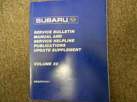 2001 Subaru Service Bulletin Service Repair Shop Manual FACTORY OEM BOOK 01 - $23.72