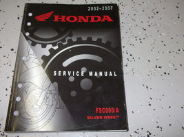 2002 2003 2004 2005 2006 2007 Honda FSC600/A Silver Wing Service Shop Manual x - $99.00