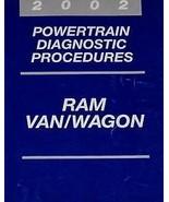 2002 DODGE RAM VAN WAGON Service Repair Shop Manual POWERTRAIN DIAGNOSTI... - $16.83