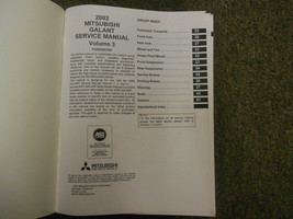 2002 MITSUBISHI Galant Service Manual FACTORY OEM VOLUME 3 FACTORY OEM BOOK 02 image 2
